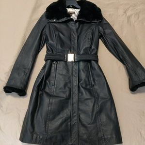 Nwot Danier leather/fur coat